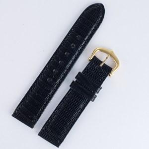 Cartier black lizard strap (15x14) ultra short