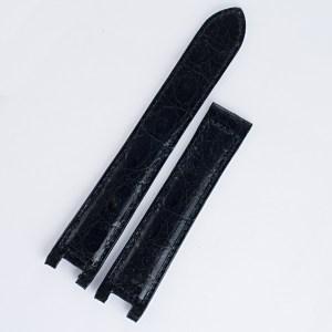 Cartier ladies black alligator strap for Pasha (18x16)