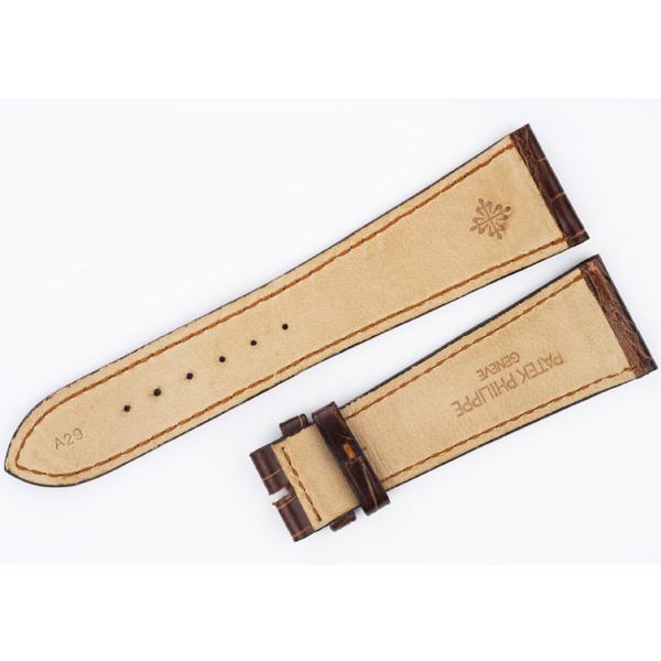 Patek Philippe brown alligator strap (24x18)