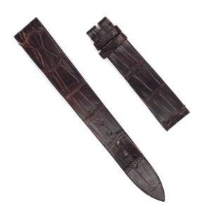 Patek Philippe dark brown alligator strap (16x13)