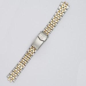 "Men's Tag Heuer 1500 series two tone stainless steel bracelet 6 3/4"" w/ fliplock buckle  21mm"