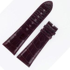 Cartier Divan Alligator Shiny Bordeaux strap 29mm x 22.5mm