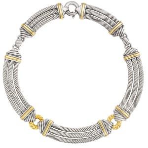 David Yurman Thoroughbred choker in 14k & sterling silver