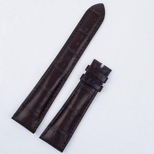 "Patek Philippe matt dark brown alligator strap 21mm x 16mm 4 1/2"" long & 3"" short for tang buckle"