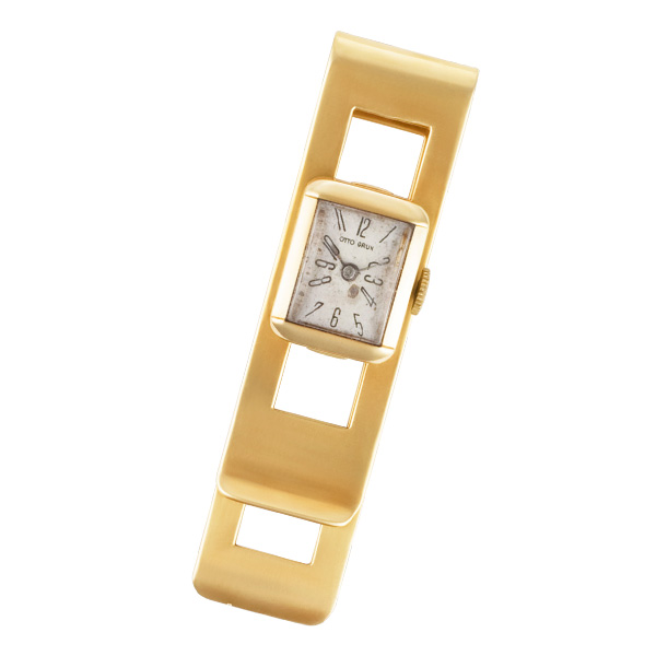 Money Clip With Otto Grun Watch