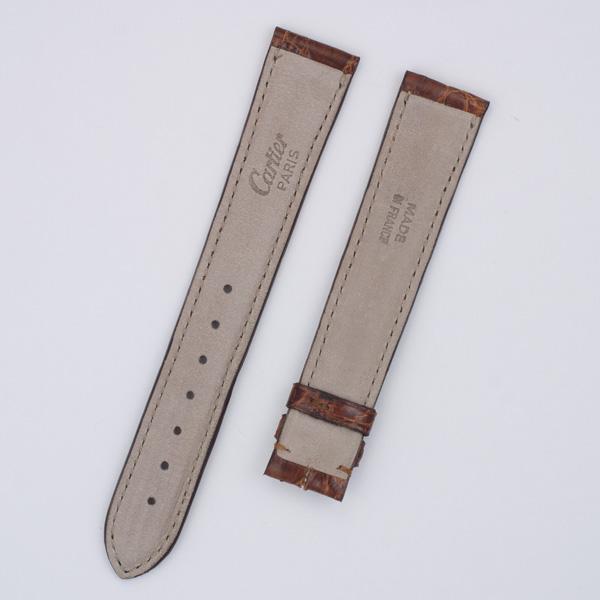 Genuine Stitched Cartier Brown Crocodile Strap 18x16