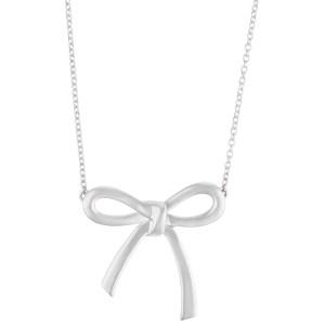 Tiffany & Co. bow necklace