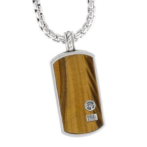 David Yurman pendant in sterling silver on sterling silver chain