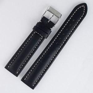 Breitling black leather strap (18x16)
