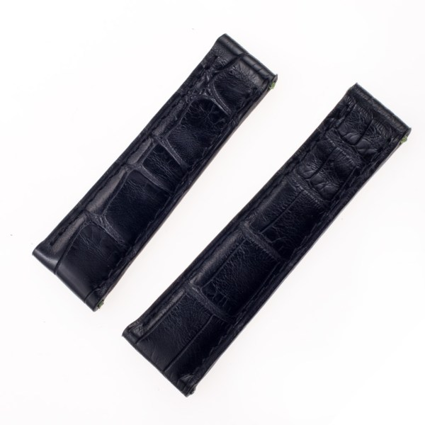 Generic alligator strap  black for rolex daytona (20x16)