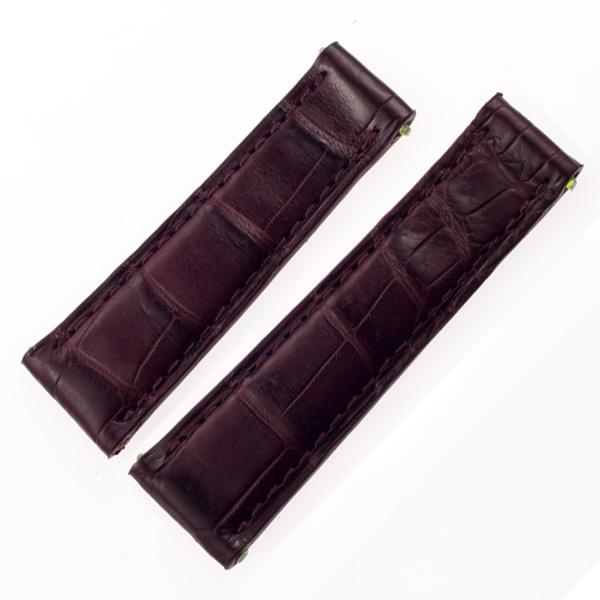 Generic alligator strap dark brown for rolex daytona(20x16)