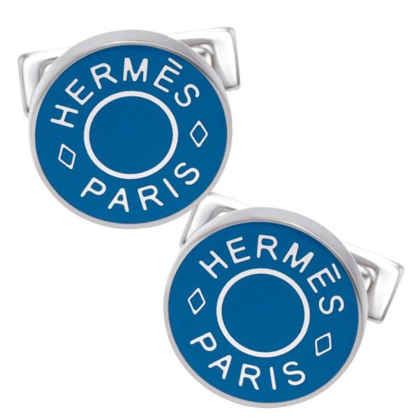 Hermes cufflinks in stainless steel