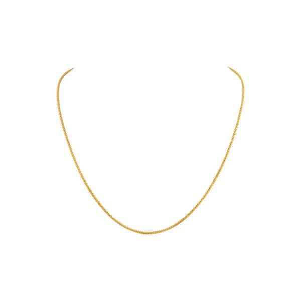 "Snake like 18k yellow gold chain. 19"" long"