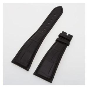 Bvlgari black alligator strap 100116116 MR M (26 x 16)