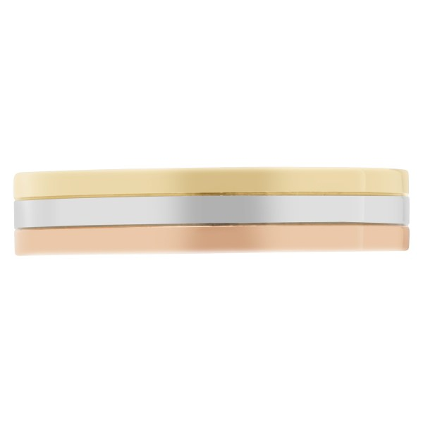 Cartier trinity band in 18k tri-colored gold