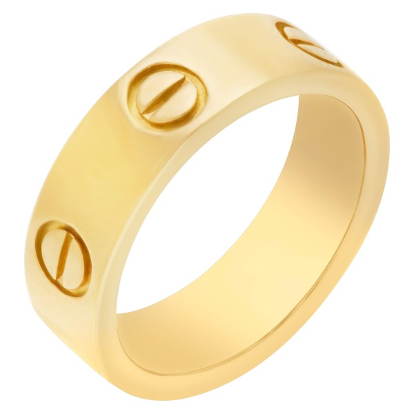 Cartier Love ring in 18k yellow gold