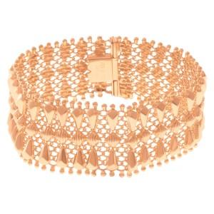 Beautiful wide bracelet in 18k rose gold
