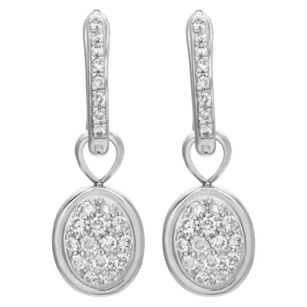 Diamond dangling earrings in 18k white gold