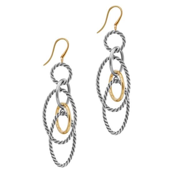 David Yurman Mobile Chain drop earrings in 18k and sterling silver