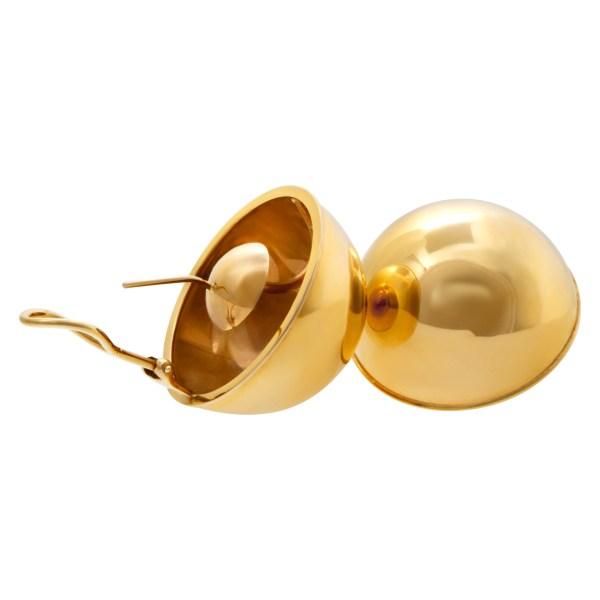 Dome earrings in 14k
