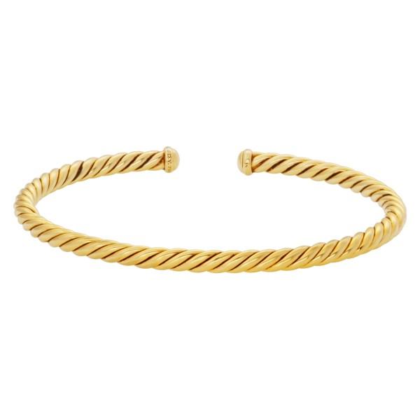 David Yurman cable spiral cuff in 18k