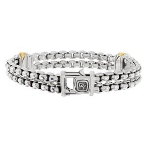 David Yurman bracelet in 18k & sterling silver