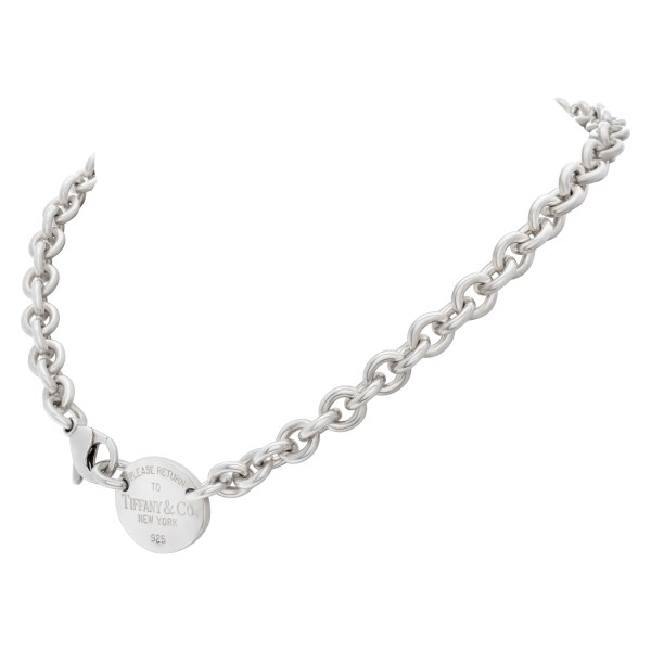 """Oval Tag Chocker Necklace """"Return to Tiffany"""" Collection"""