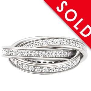 Cartier Trinity diamond ring in 18k white gold