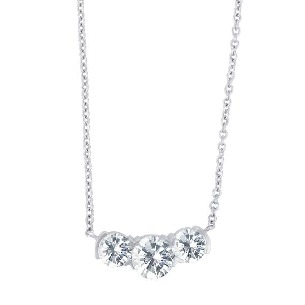 Hearts on Fire three stone diamond pendant appr. 1.30 Cts