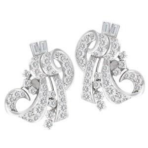 Vintage diamond earrings in platinum w/ approx. 3 carats in diamonds.
