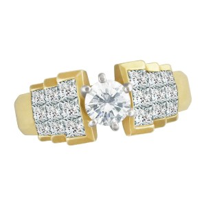 Diamond engagement ring  in 18k. 0.45cts center diamond (G-H color, SI-I clarity)