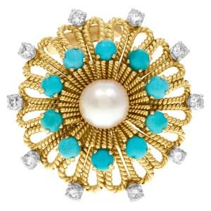 David Yurman Albion Sterling Silver Blue Topaz And Diamond Ring