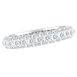 Tiffany & Co. Etoile three-row pave diamond band in platinum w/ 0.53 cts