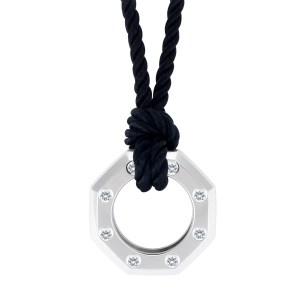 Audemars Piguet Royal Oak diamond pendant in 18k white gold