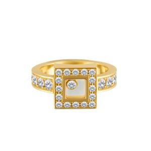 Chopard Happy Diamonds in 18k yellow gold 0.86 carat  (F-G color, VS clarity)
