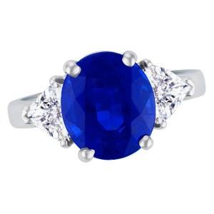 AGL Certified sapphire & diamond ring in platinum.
