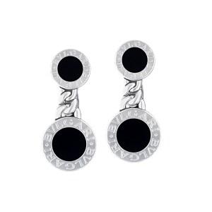 Bvlgari Onyx 18k White Gold Earrings