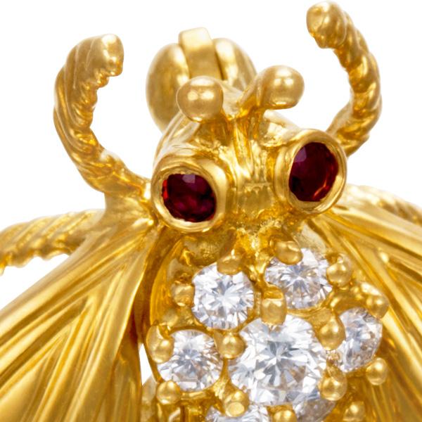 18k Yellow Gold Medium Love Bug By Tiffany & Co