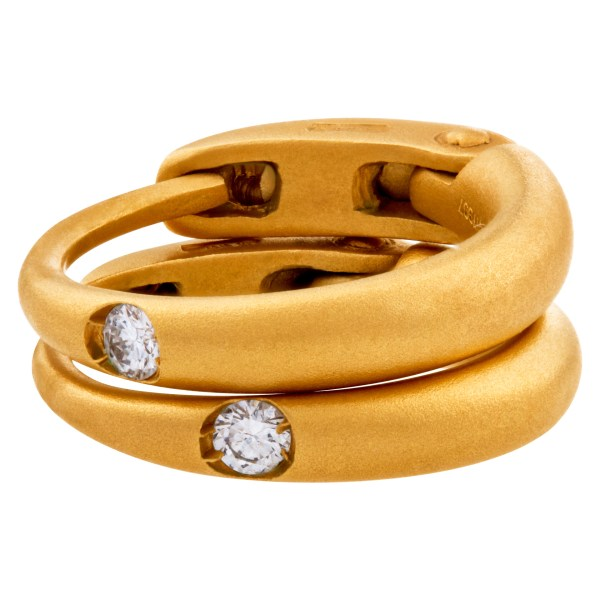 Pomellato Sabbia Diamond Earrings In 18k