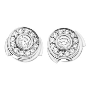 Tiffany & Co. Circlet collection mini diamond stud earrings in platinum