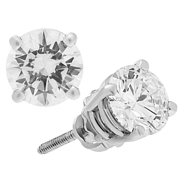 GIA Diamond 1.04 cts (H-VS1) 1.12 cts (H-VS1) in 18k white gold Total 2.26 cts