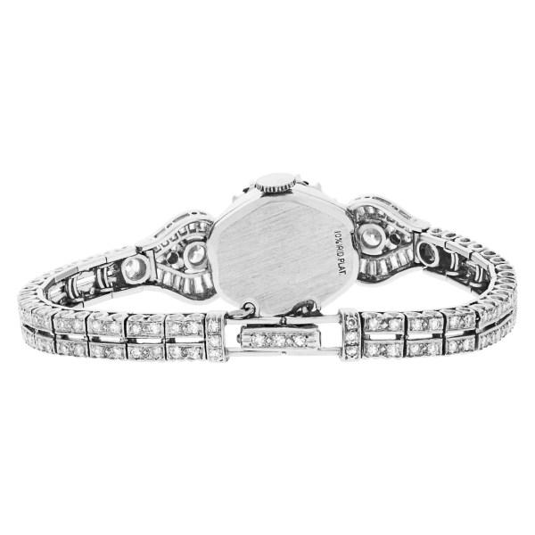 Hamilton platinum diamond cocktail watch