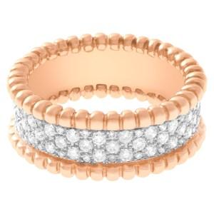 Gorgeous pave diamond ring in 14k rose gold 0.60 carat in diamonds