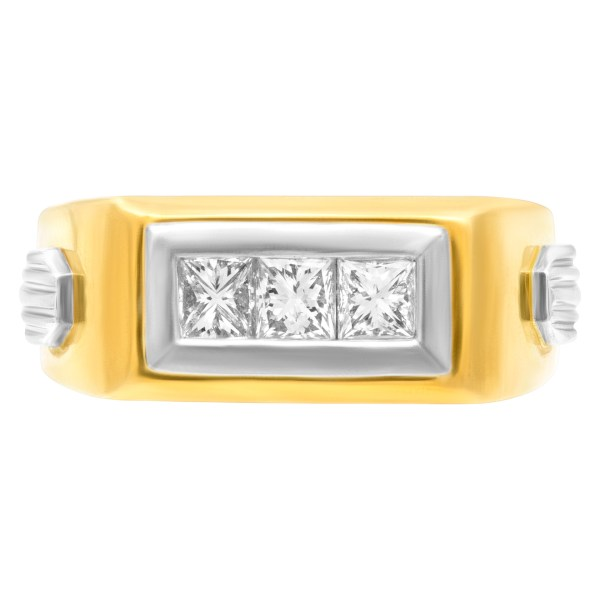 Diamond band in 18k gold with 0.75 carat (I-J color, SI clarity)