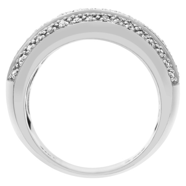 Pave Diamond Ring in 14k white gold with approx. 0.96 carats in diamonds