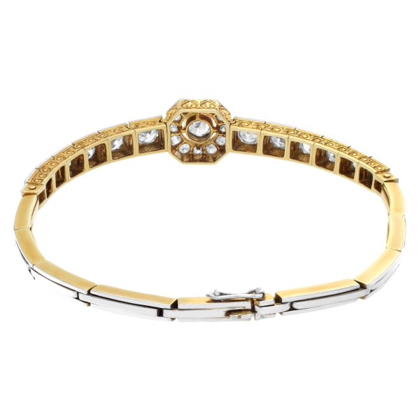 Diamond bracelet in 18k yellow gold with approximately 2 carats in diamonds