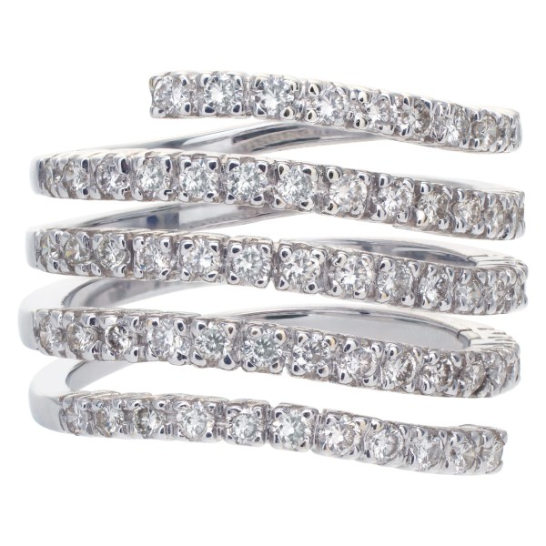 Diamond Band and Ring in 18k white gold