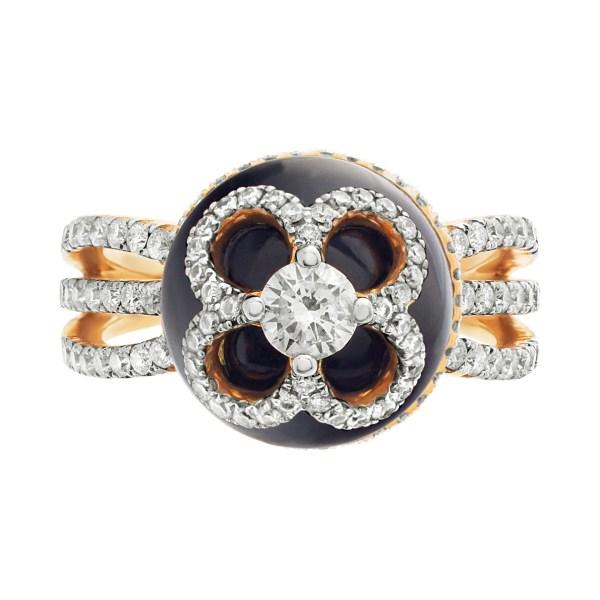 Designer Michael Christoff diamonds ring set in 18k rose gold.