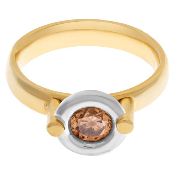 Bezel set diamond ring in 18k with