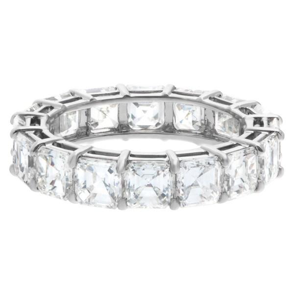 Diamond eternity band  asscher cut in platinum with 4.62 carats